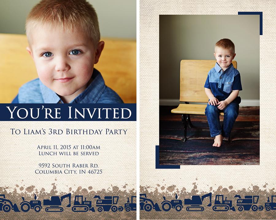 Liam's Photo Invites