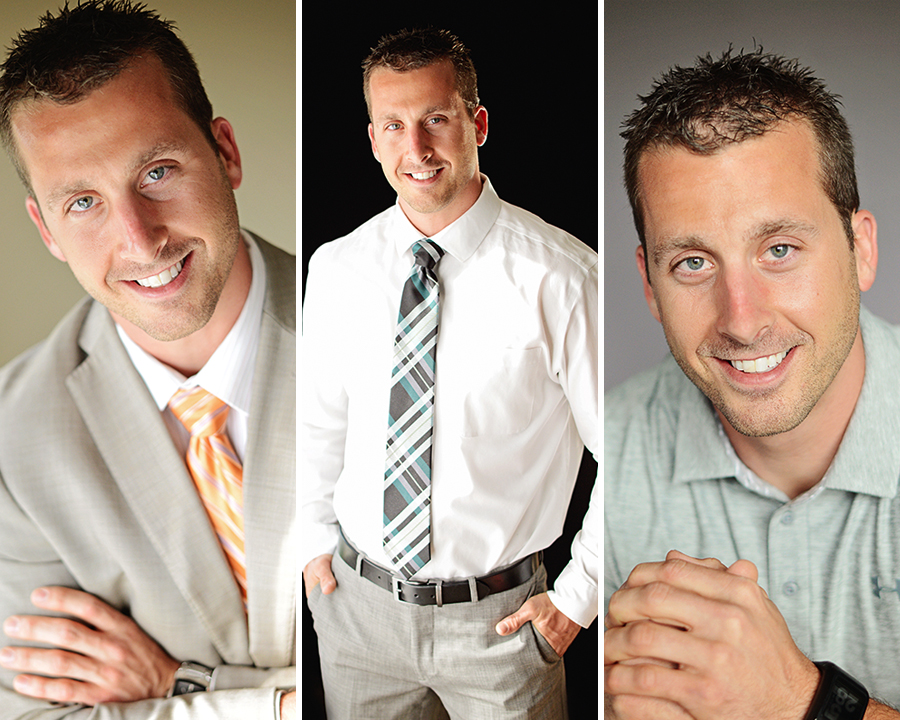 men's business portraits, business professional head shots, Columbia City Photographer, Fort Wayne Photographer, natural light head shots,