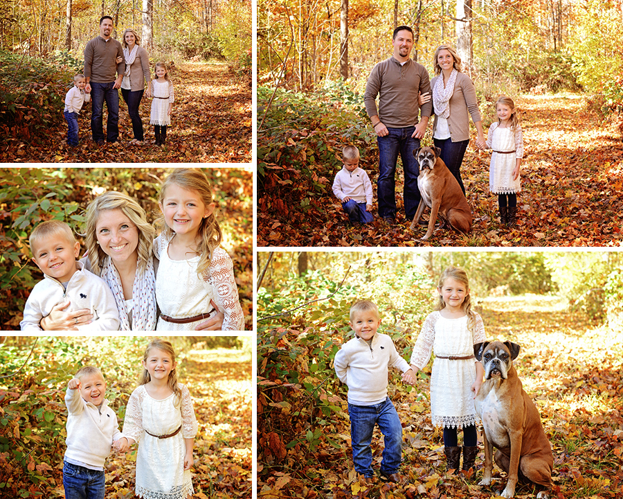 outdoor family portraits, fall family pictures, family pictures with dog, Columbia City Photographer, Ft. Wayne Photographer,sibling portraits,