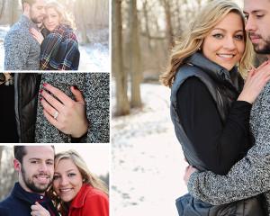 engagement portraits, engagement pictures, winter engagement session, Fort Wayne Photographer, Columbia City Photographer,