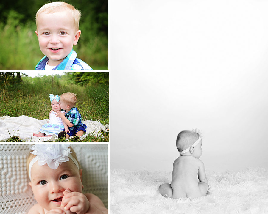 6 month old portraits, 2 year old pictures, sibling pictures, Columbia City Photographer, children photographer