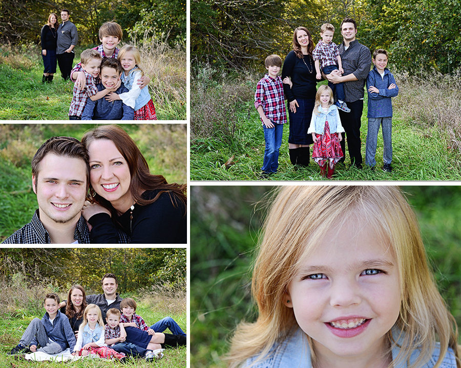 Columbia City Family photographer, fall family portraits