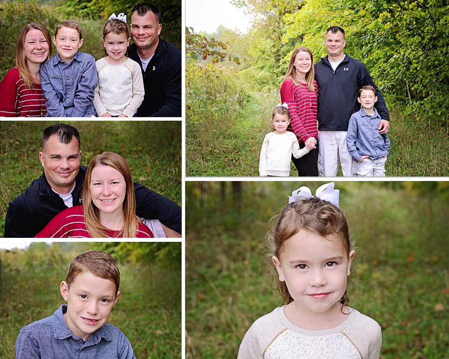 fall portraits, family portraits, Columbia City Photographer, Family of 4 portraits
