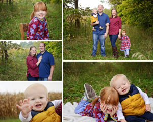 Fall family outdoor pictures, family of 4 pictures, Columbia City Photographer