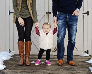 1 year portraits, winter family portraits, Columbia City Photographer