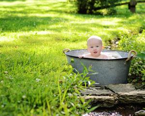 Columbia City Child photographer, 6 month portraits