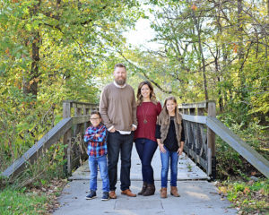 fall family pictures, Columbia City Photographer, family of four portraits