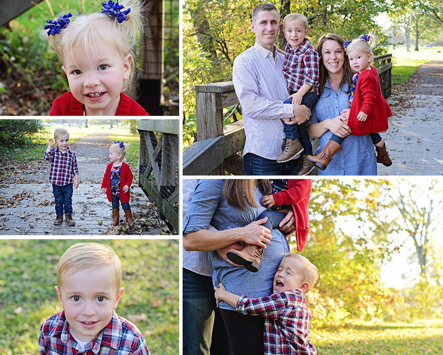 Family of 4 family pictures, Columbia City Photographer