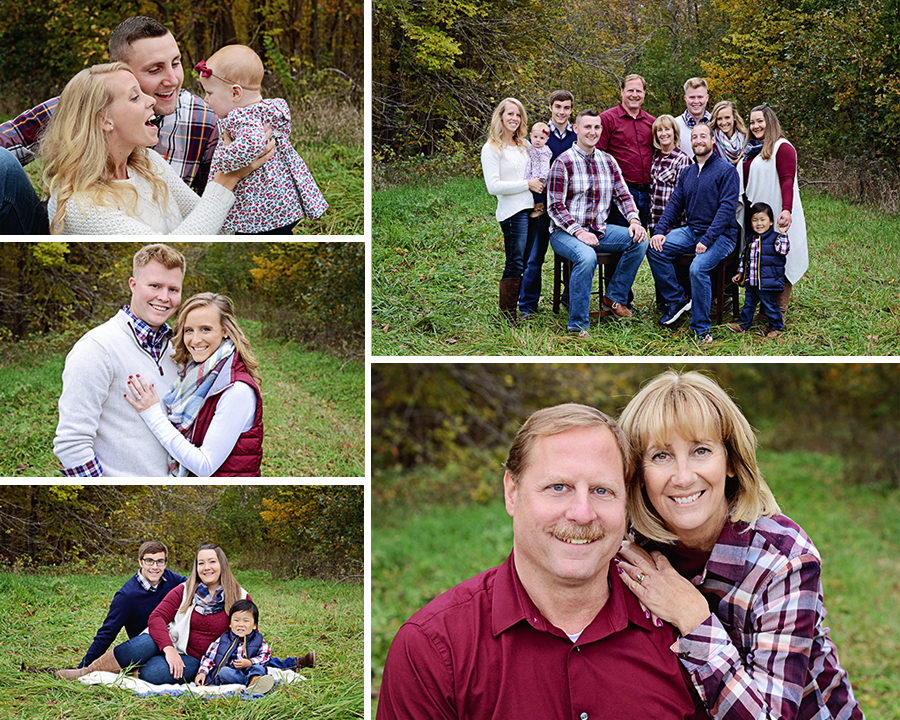 Extended family portraits, Columbia City Photographer, fall family portraits