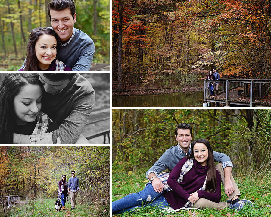 Engagement portraits, fall portraits, Columbia City Photographer