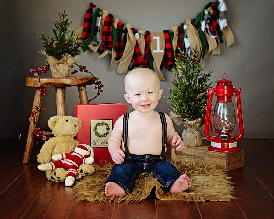 Christmas Portraits, Columbia City Photographer, 1 year old portraits