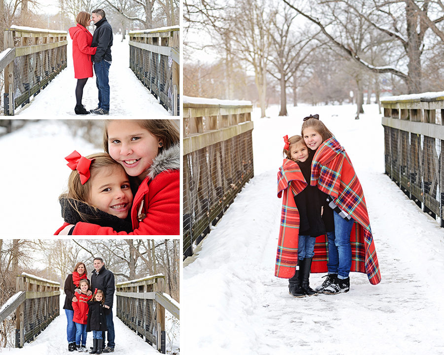 Columbia City Photographer, Winter Family Portraits, Family Snow Portraits