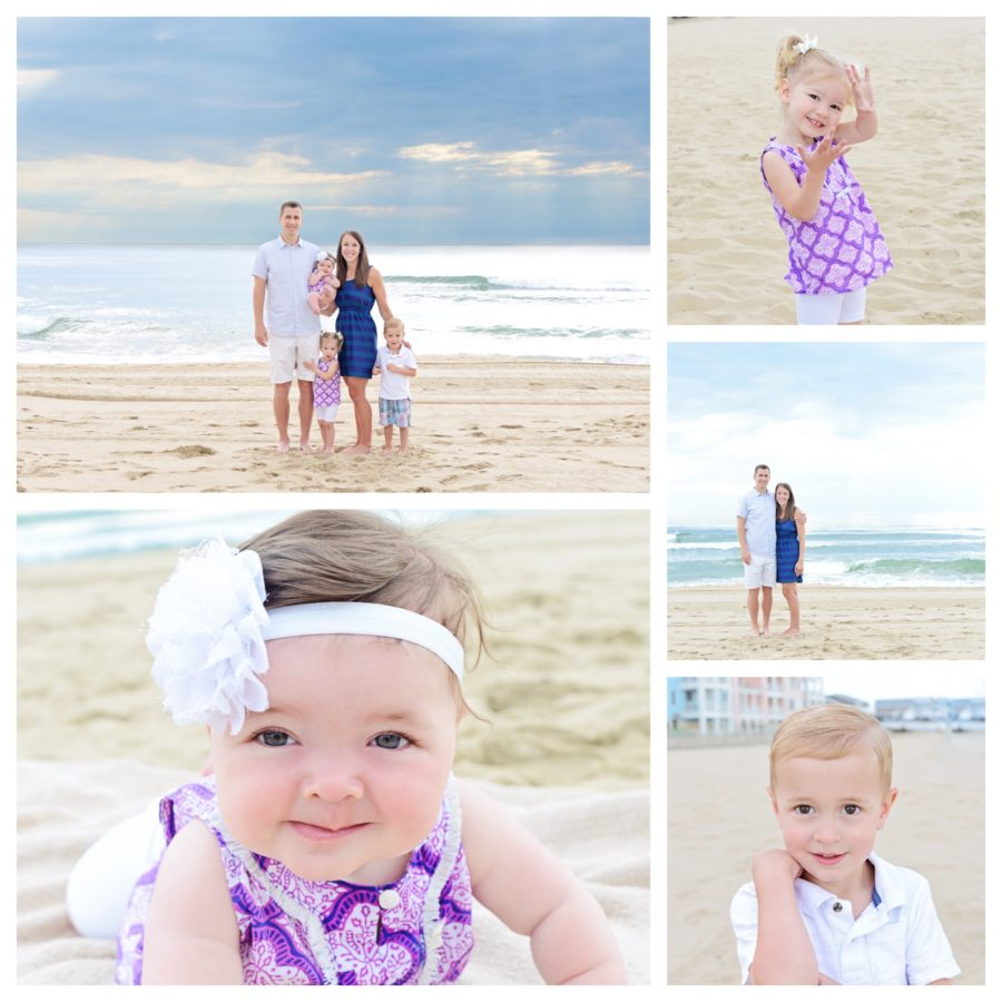 Columbia City Photographer, Beach family portraits, family of 4 portraits