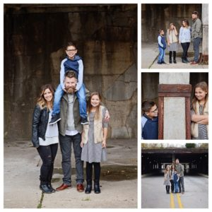 Downtown family portraits