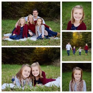 Columbia City Photographer, Fall family portraits, family of four portraits