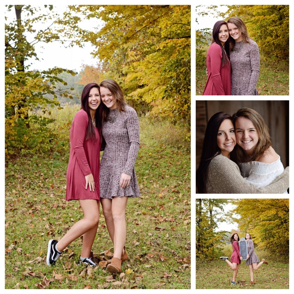 Columbia City Photographer, twins senior portraits, girls senior portraits