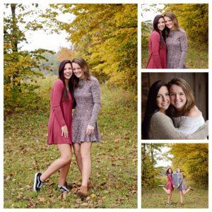 Columbia City Photographer, twins senior portraits, girls senior portraits