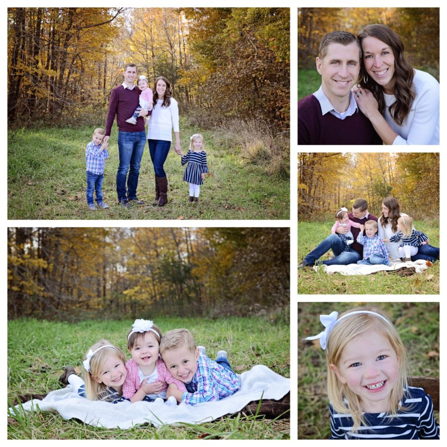 Columbia City family photographer, fall family portraits, family of 5 portraits, family portraits with young kids
