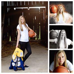 Senior basketball portraits, senior girl portraits, Columbia City Photographer