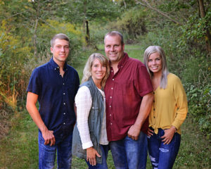 fall family portraits, family portraits with older siblings, family of four portraits