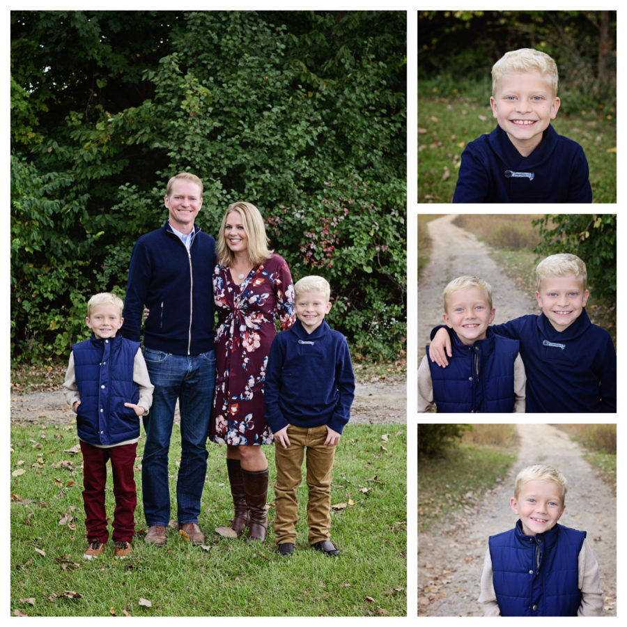 Fall Family portraits, family of 4 portraits, family portraits with boys