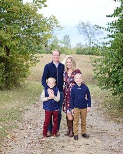 Family of 4 portraits, fall family portraits