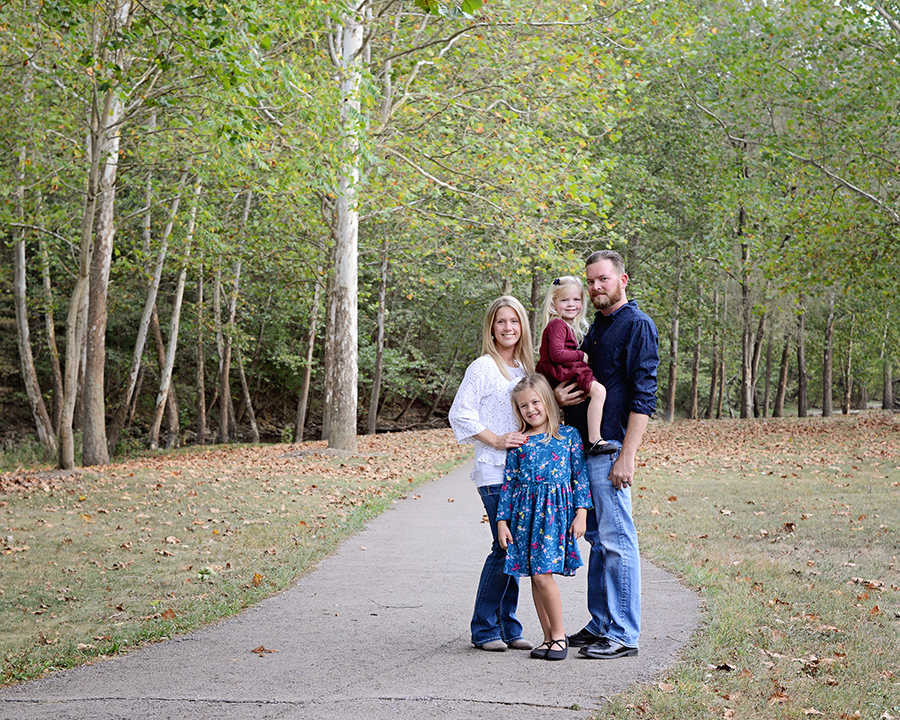 Fall family portraits, family of 4 portraits,