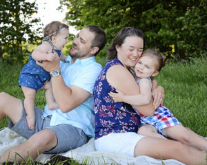 candid family portraits, family of four portraits, family portraits with young children