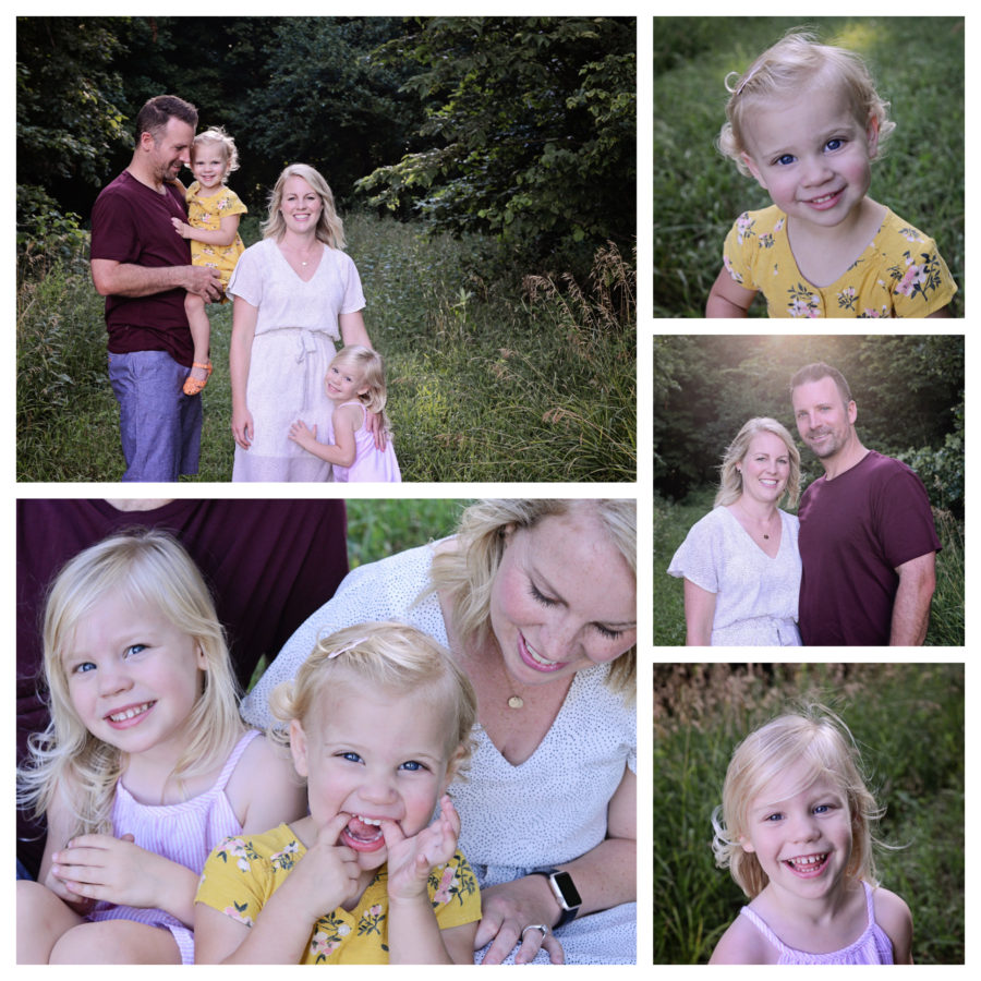 Family portraits, family of 4 portraits